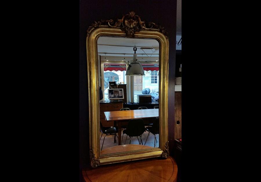 miroir dor louis philippe au p ch du mobilier. Black Bedroom Furniture Sets. Home Design Ideas