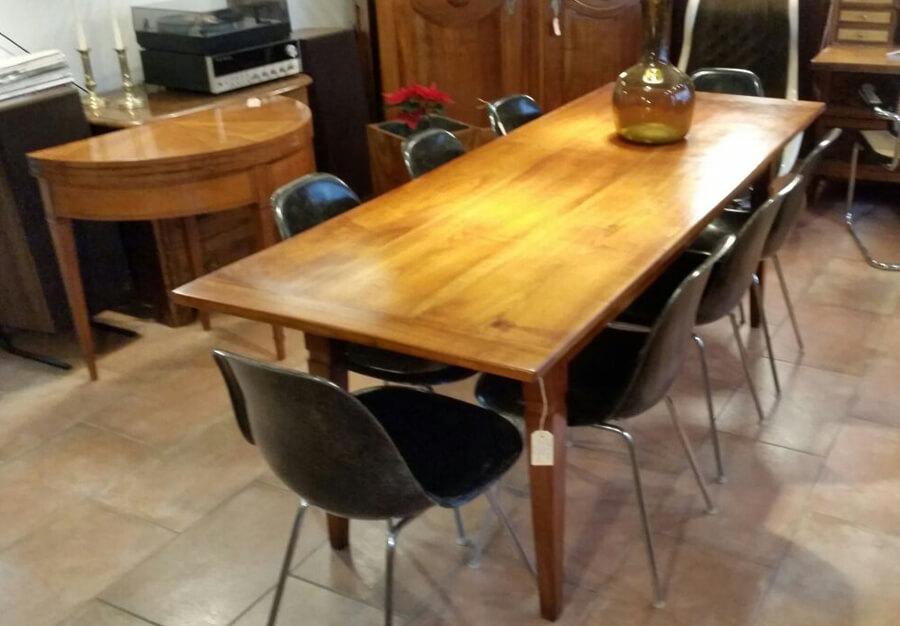 grande table de ferme en cerisier au p ch du mobilier. Black Bedroom Furniture Sets. Home Design Ideas